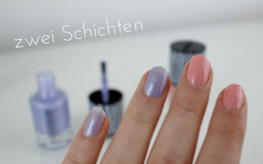 Catrice Doll's Collection Nagellacke: C01 Droll like a Doll, C02 Playing in Lavender Heaven zwei Schichten