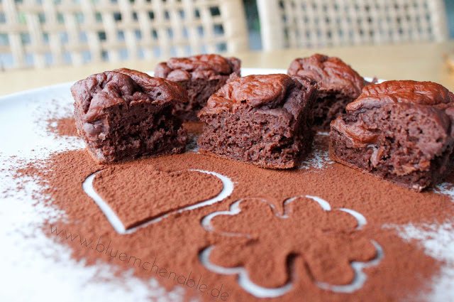 Brownies zuckerfrei fettarm Kidneybohnen Rezept low fat mit nährwerten ohne zucker