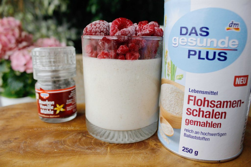 Flohsamenschalenpudding Rezept gesunder Pudding proteinreich